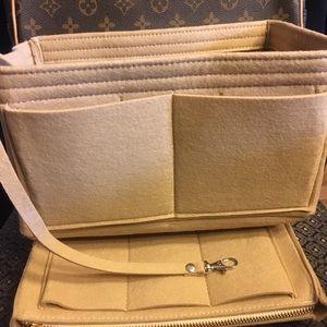 Purse Tote medium Insert+ Zip Case  Organizer Bag